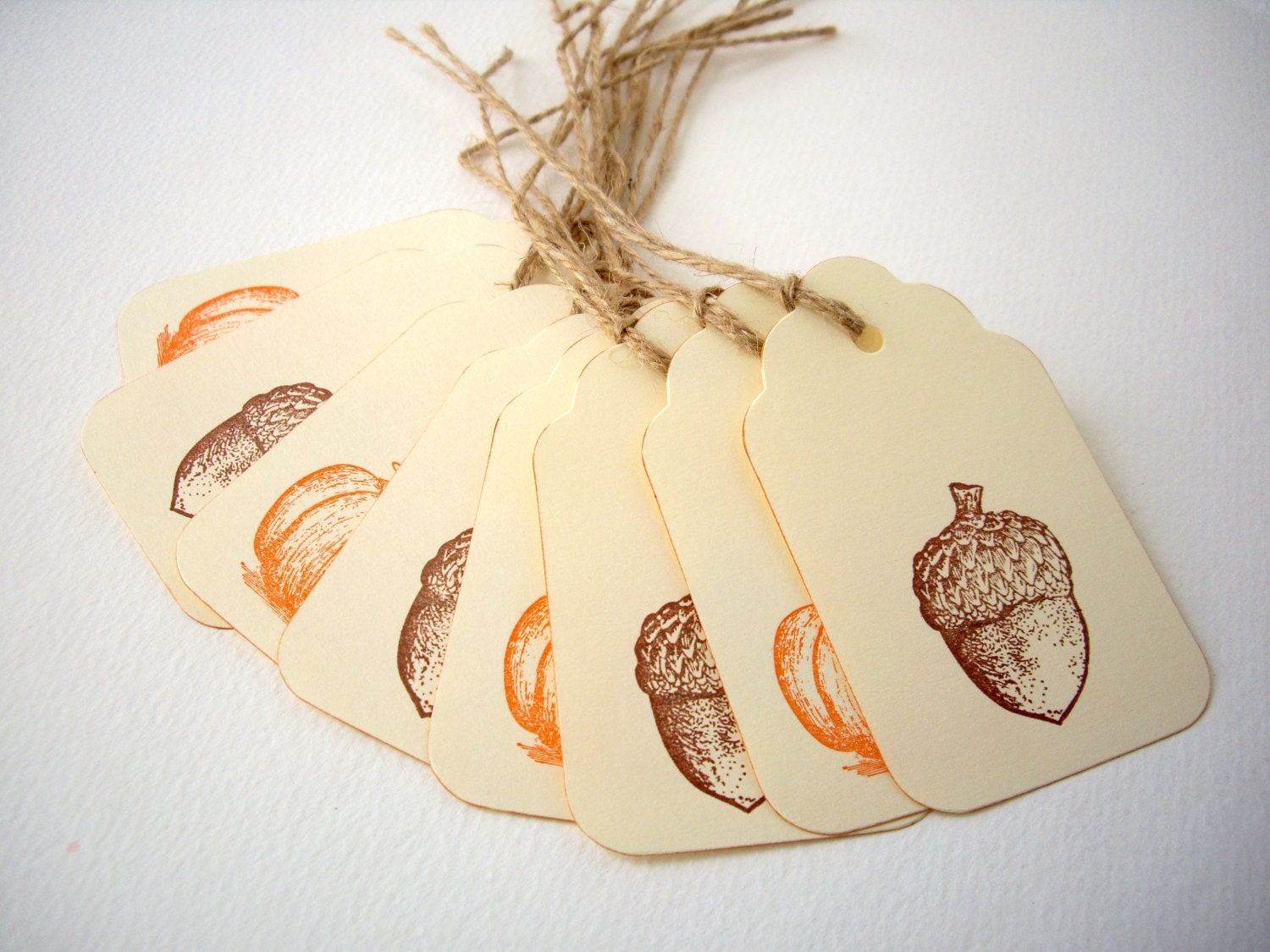 fall gift tags, pumpkin tags, acorn tags, autumn tags, thanksgiving tags,fall party favor, autumn party favor, embellishment - JDooreCreations