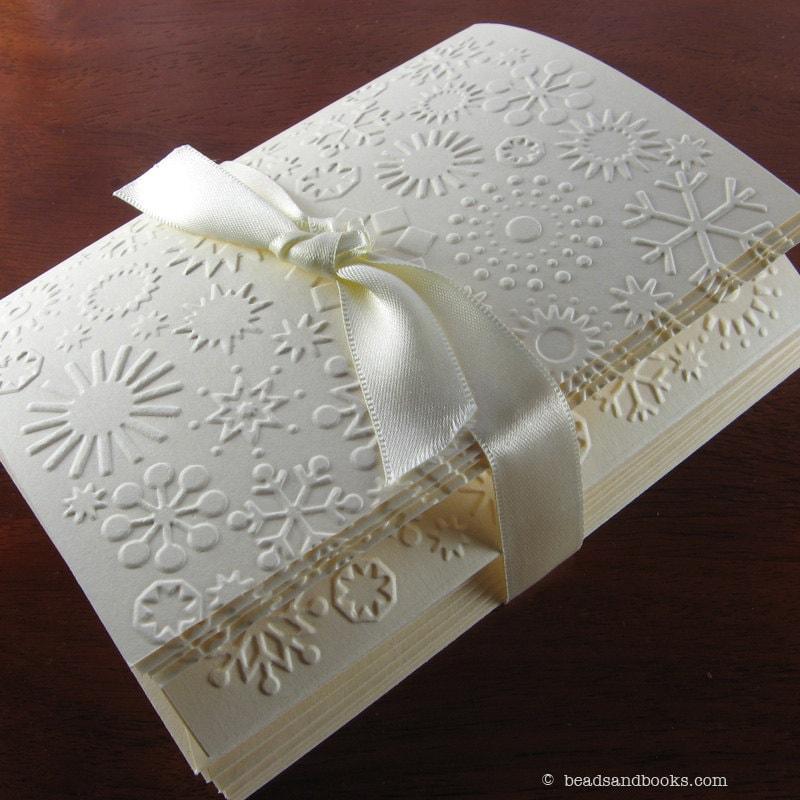 Snowflake Cards - Christmas Card Set