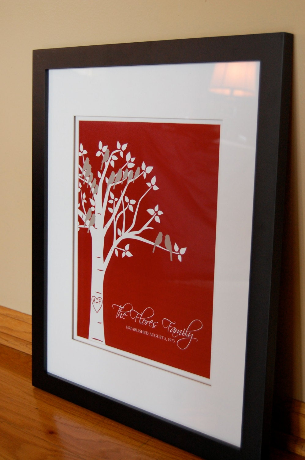 Mother 39 s day gift custom personalized family tree by for Family tree gifts personalized