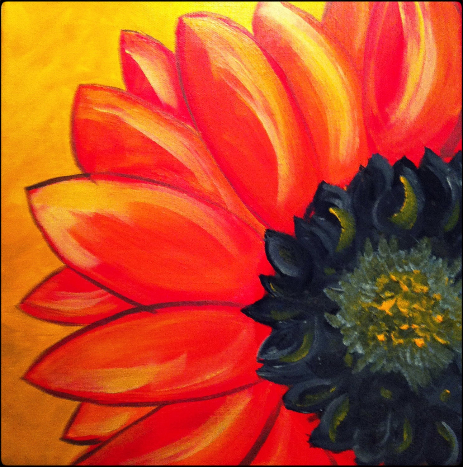 The gallery for --> Easy Paintings For Beginners On Canvas ... Easy Acrylic Flower Paintings On Canvas