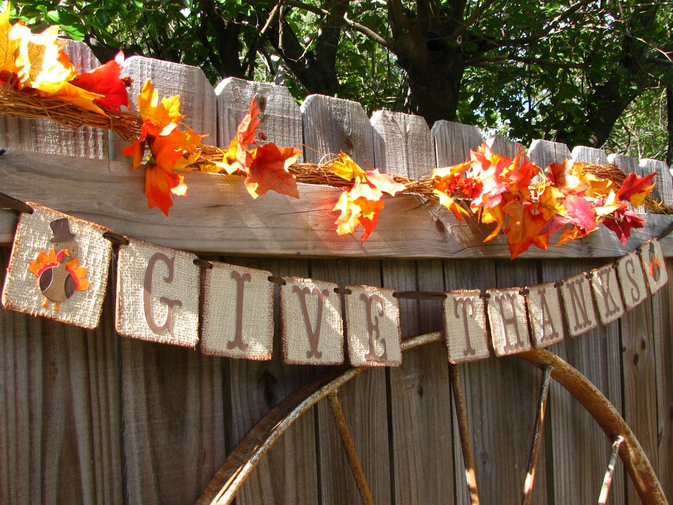 Decorating Ideas > Items Similar To Thanksgiving Decor Banner Give Thanks  ~ 070224_Thanksgiving Decorations On Etsy