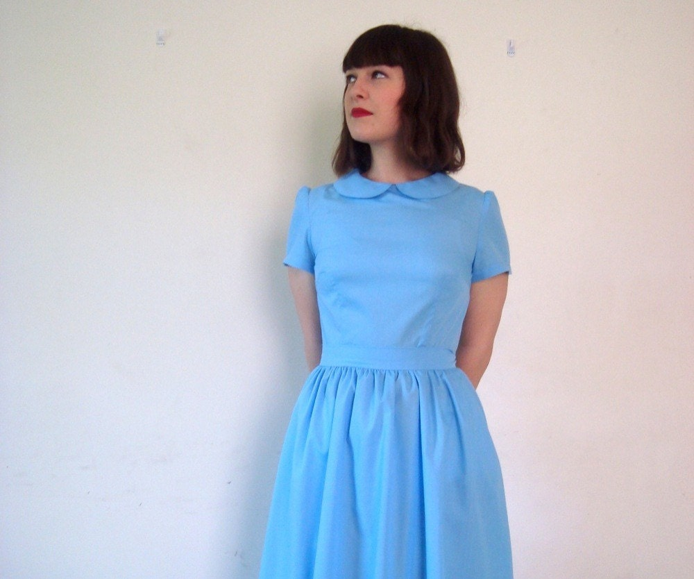 The Wendy Blue Party Dress with Peterpan collar