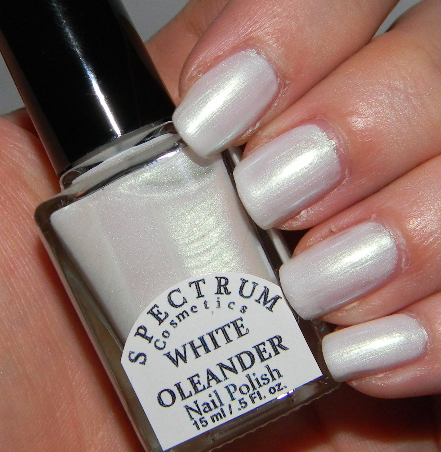 Opalescent Nail Polish: Items Similar To WHITE OLEANDER White Iridescent Nail