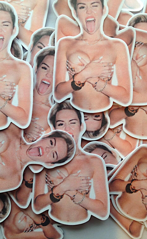 Miley Cyrus Nip Slip Sticker Pack