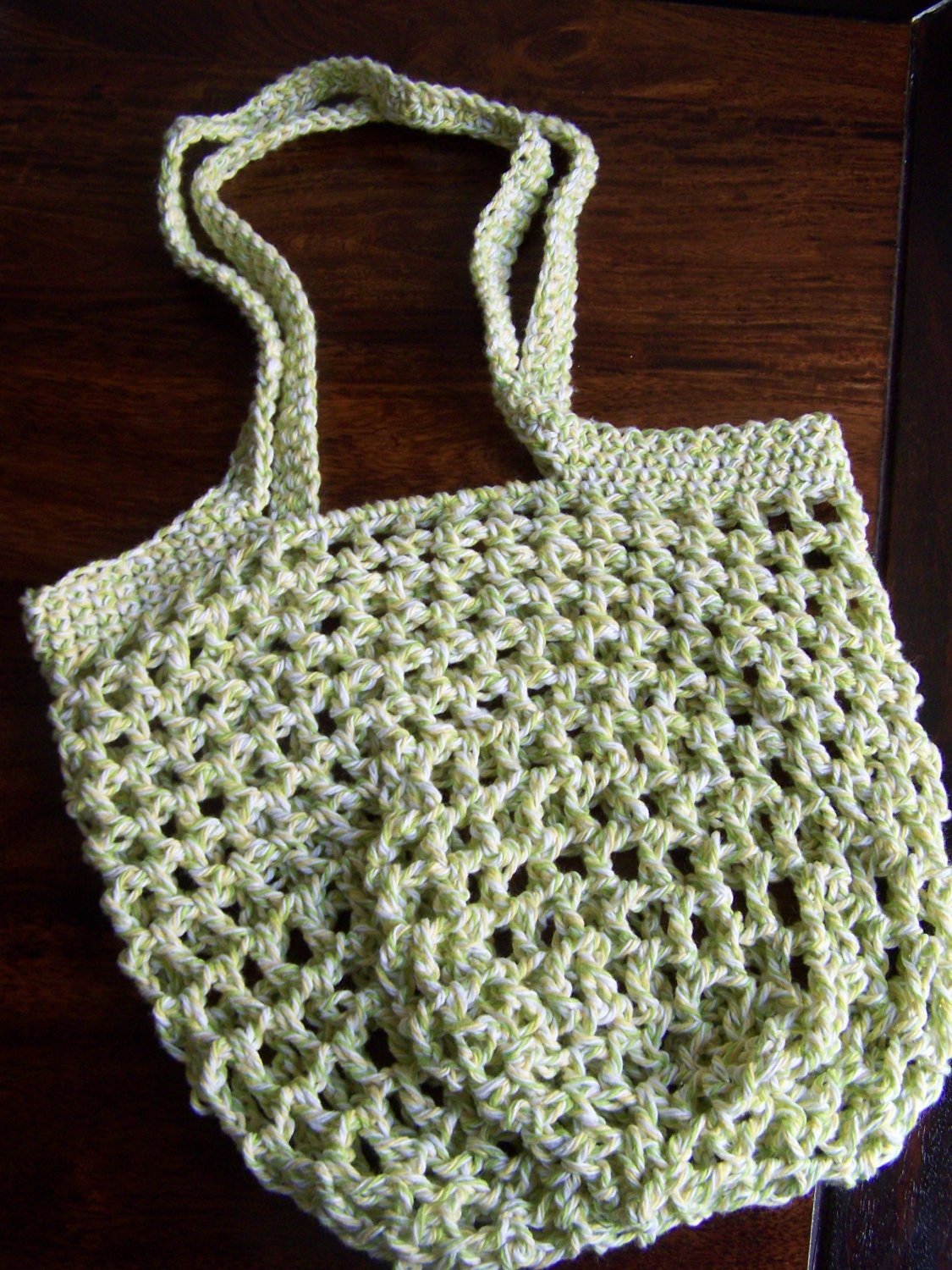 CROCHETED SHOPPING NET BAG - CROCHET PATTERNS
