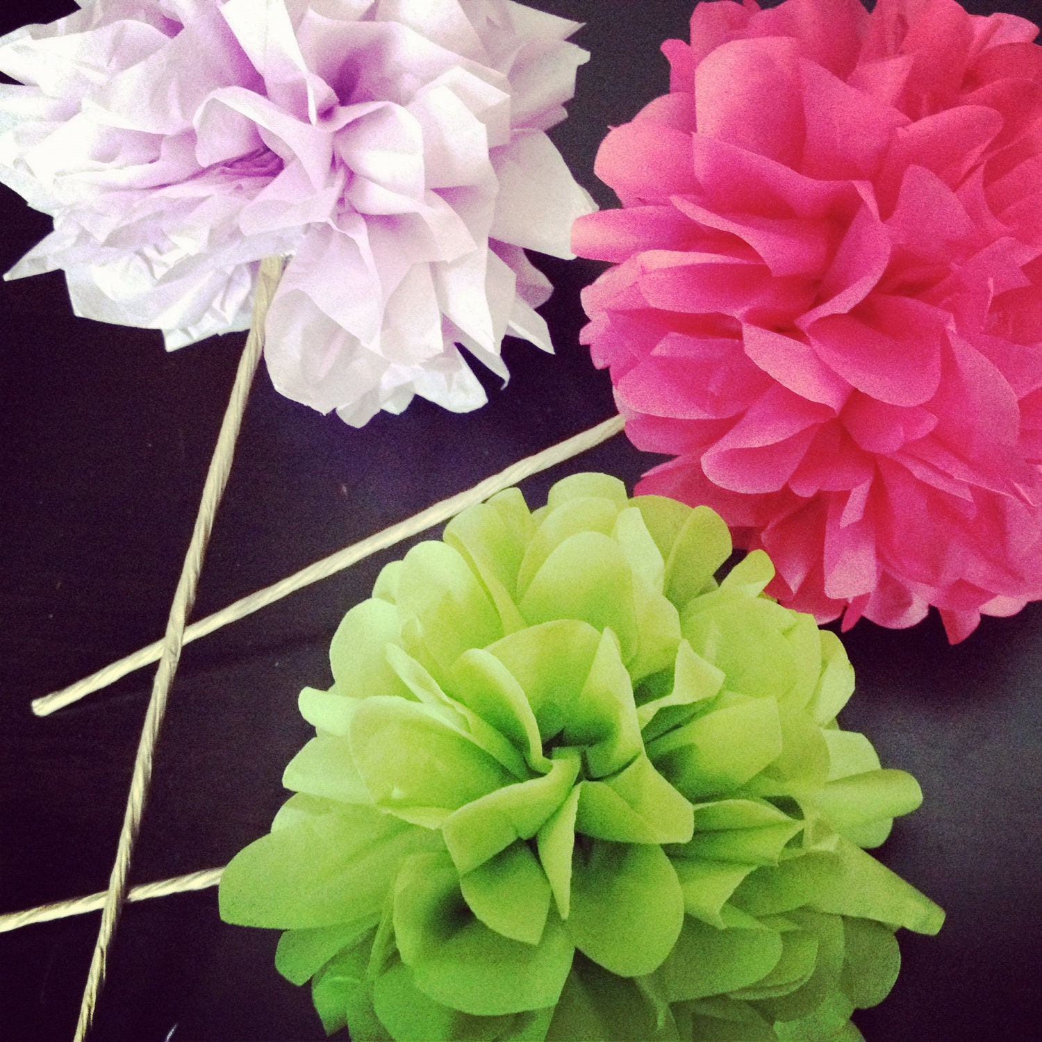 Custom Colors ... tissue paper pom flowers // weddings // birthdays // party decorations