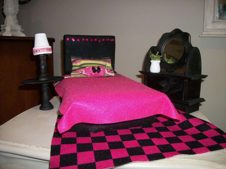 barbie doll furniture bedroom set by pbjandco on etsy