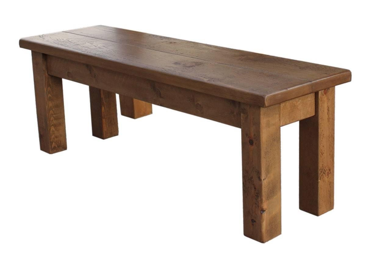 Rustic plank Furniture NEW Real Solid Wood Dining Table Bench  Rustic Plank Sawn Pine Furniture  rustic pine furniture seat chair new