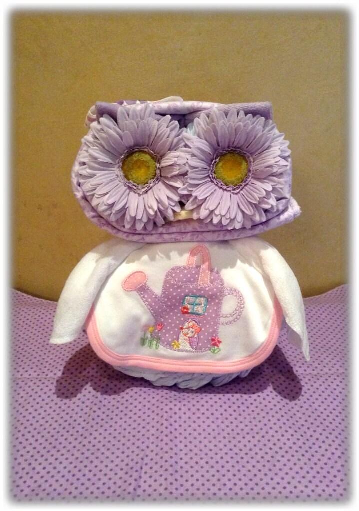 purple owl diaper cake owl baby shower diaper animal owl diaper