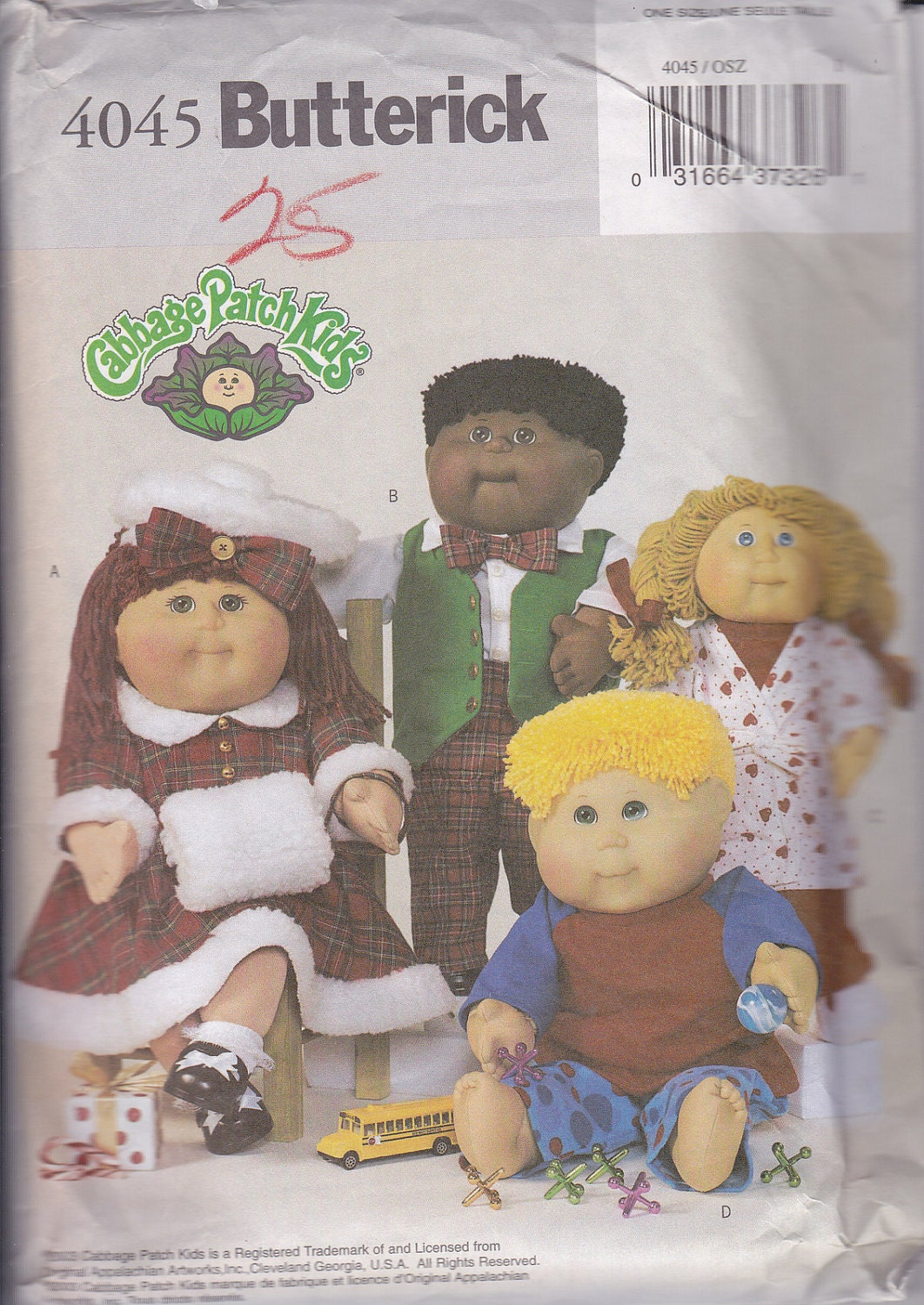 cabbage patch doll clothes sewing pattern by viennasgrace