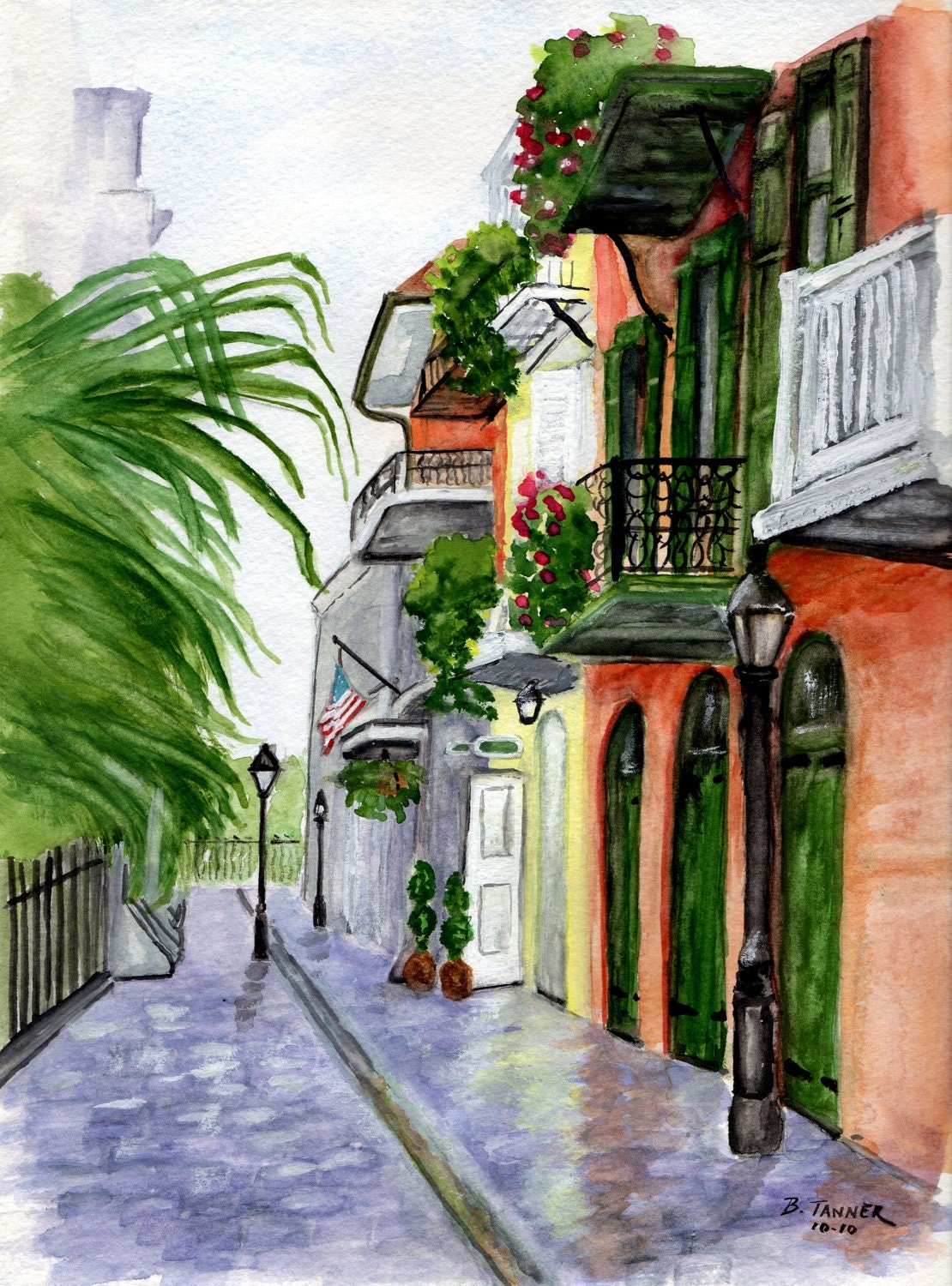 New Orleans French Quarter Pirates Alley by WindingRoadGallery