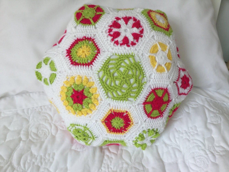 Crochet Hexagonal Cushion