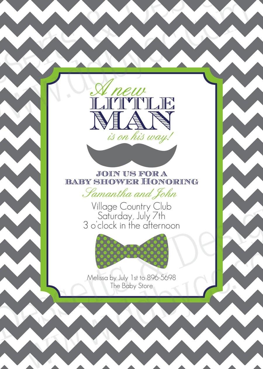 little man baby shower invitation 2 by sparklecelebr8 on etsy