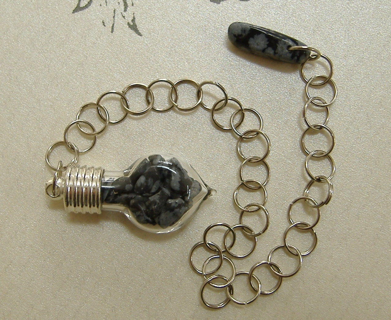 Snowflake Obsidian Dowsing Pendulum - Stone of Scrying, Purity, Stone of Inner Self,  Scorpio Power Stone, Root and Sacral Chakra,