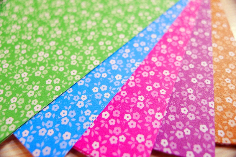 Tiny Blossom Paper Pack for Origami Paper Crane Folding - 50 Sheets(10cm x 10cm )