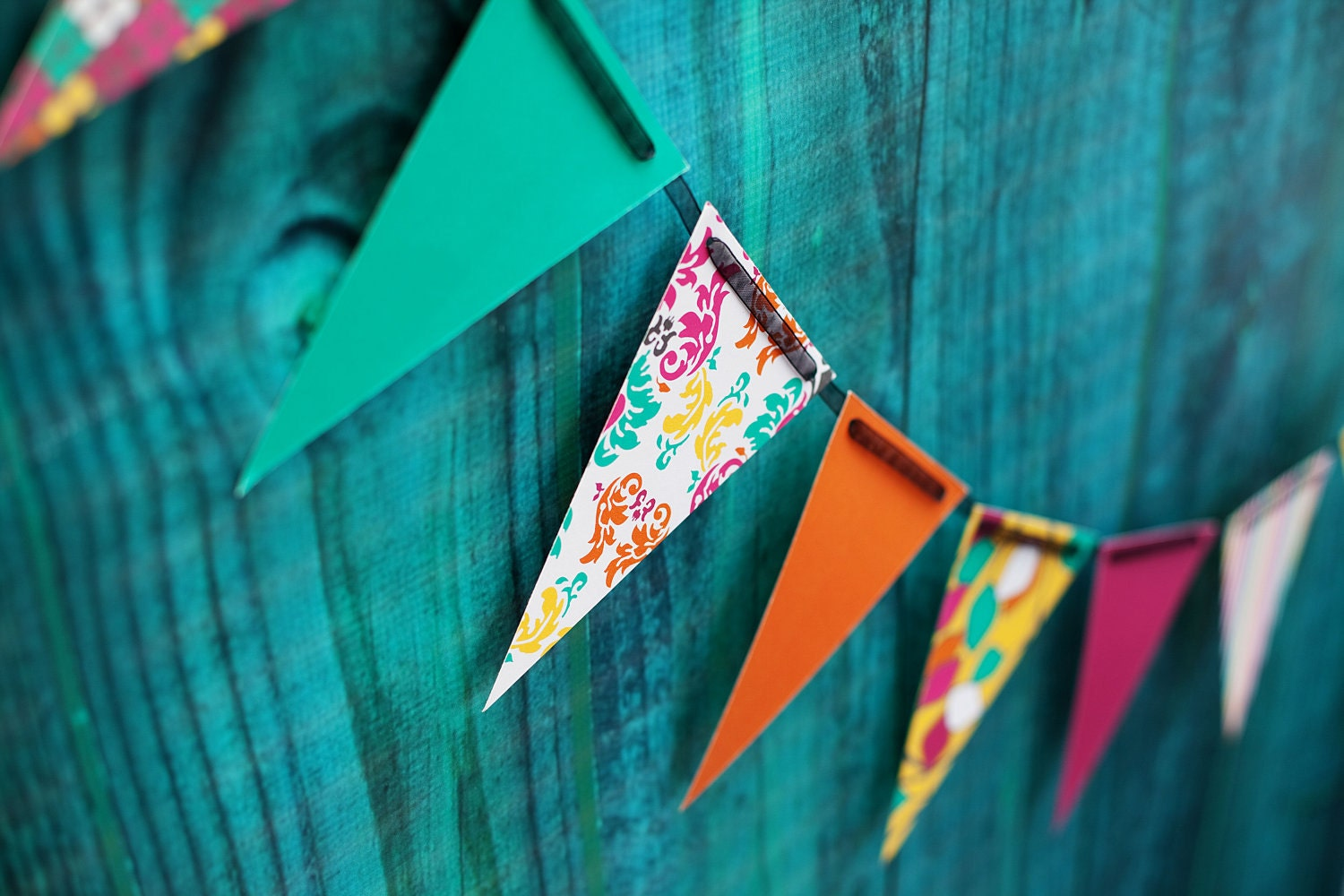 DIY Party Decorations Pennant Banner Make A Birthday Wish - Diy party decoration