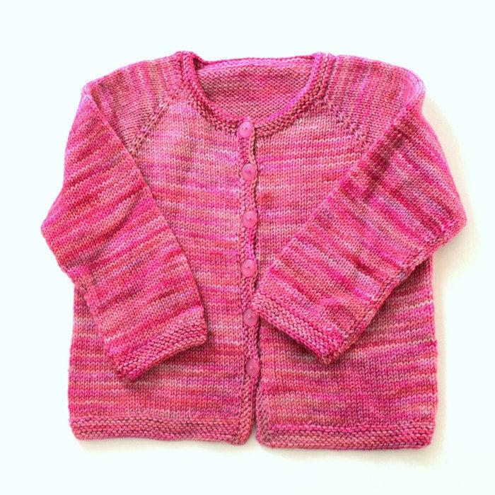 Knitting Cardigan Tutorial : Knitting pattern basic top down child s cardigan by