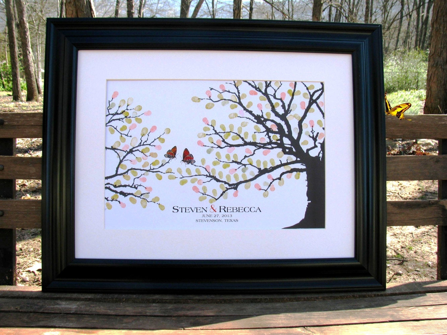 Wedding Thumbprint Tree Guest Book alternative by SignatureMoments