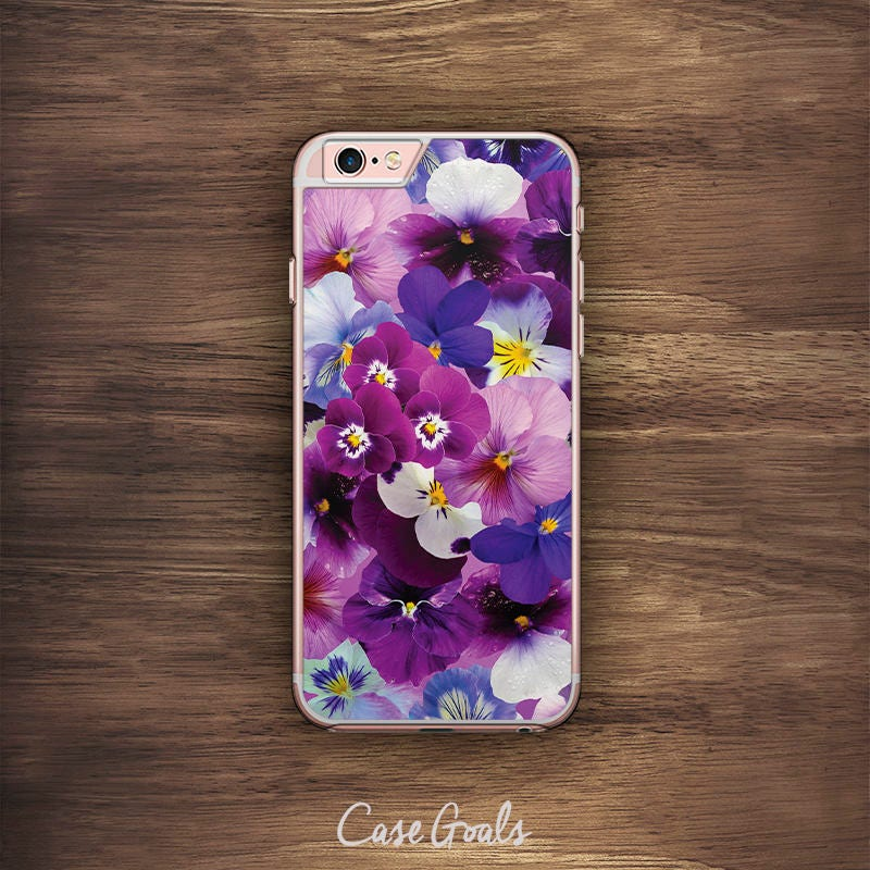 Purple Flower iPhone Floral Pattern iPhone 6 Case iPhone 6S Case iPhone 5S Case iPhone 5 Case iPhone 5C Case iPhone 7 Case iPhone 4 Case