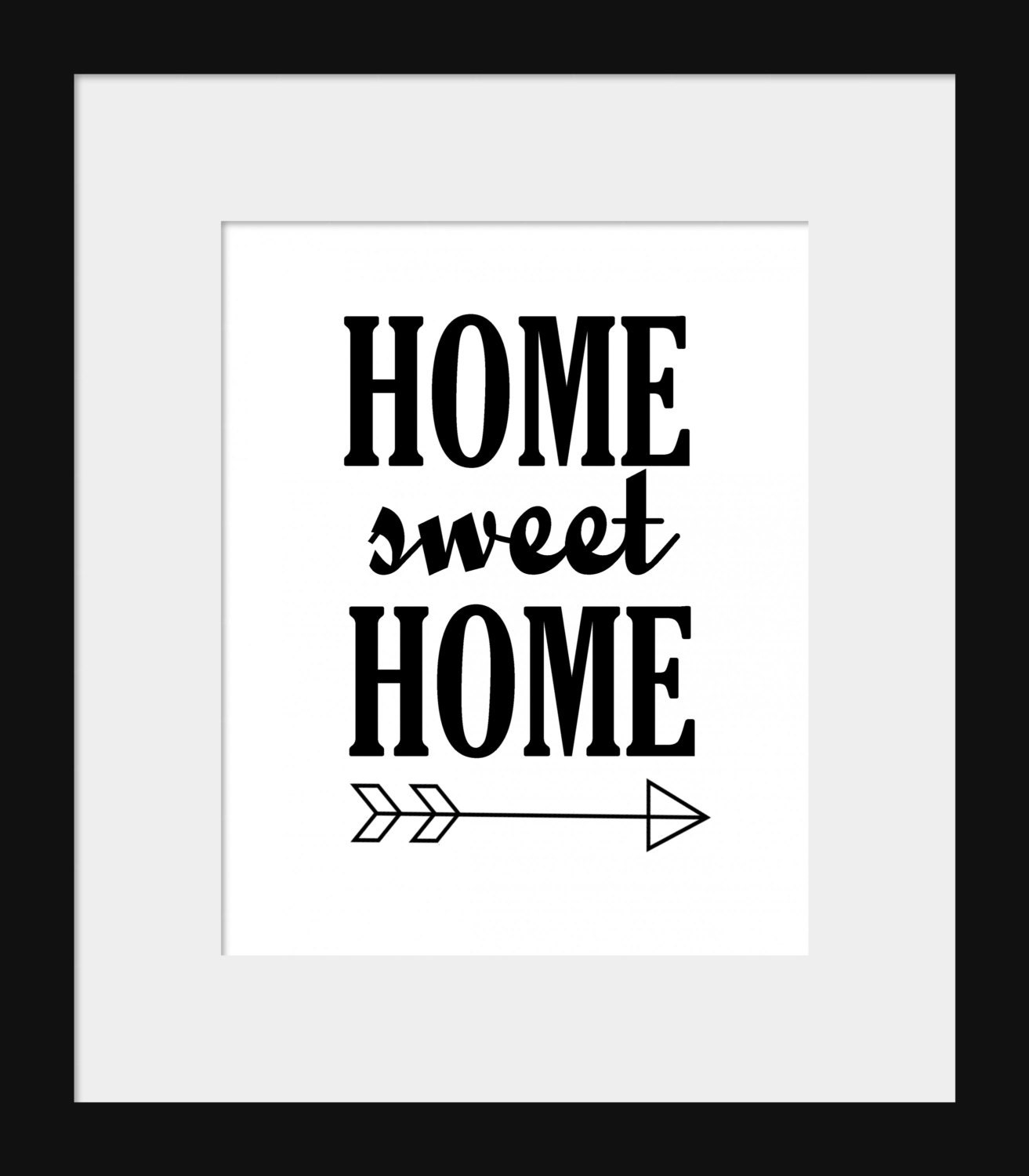 Black And White Quote Wall Decor : Items similar to instant downloadable printable wall print