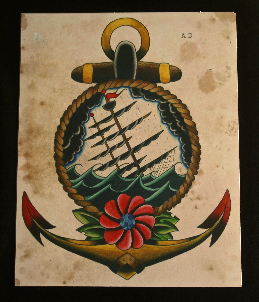 The gallery for sinking ship tattoo for Sinking ship tattoo