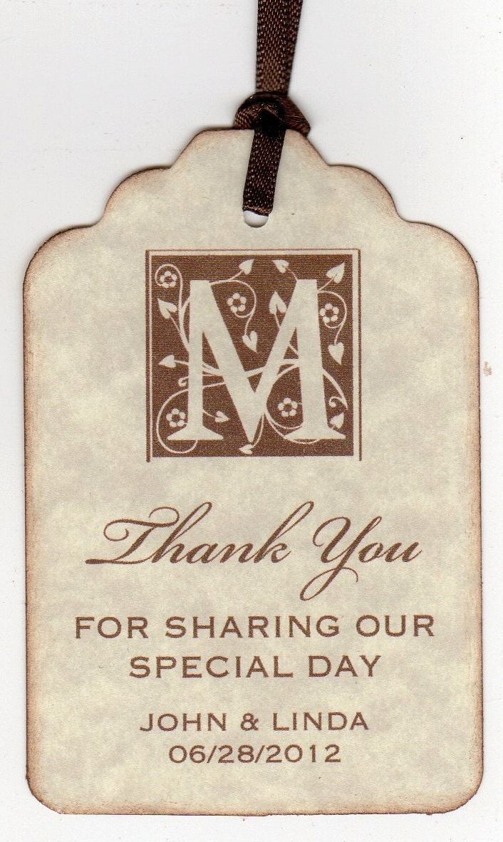 50 Vintage Personalized Thank You Tags Gift Tags By