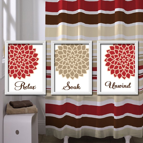 Relax soak unwind red beige tan brown dahlia flower by trmdesign