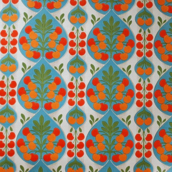 seventies vintage wallpaper 50 cm by frausvensson on etsy