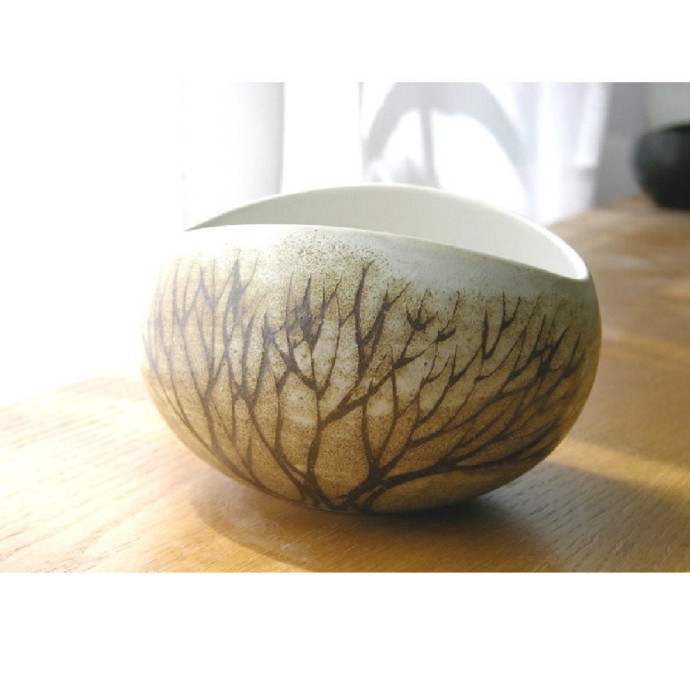 Large Serving Bowl in Natural Brown Tree - AndersenStudio