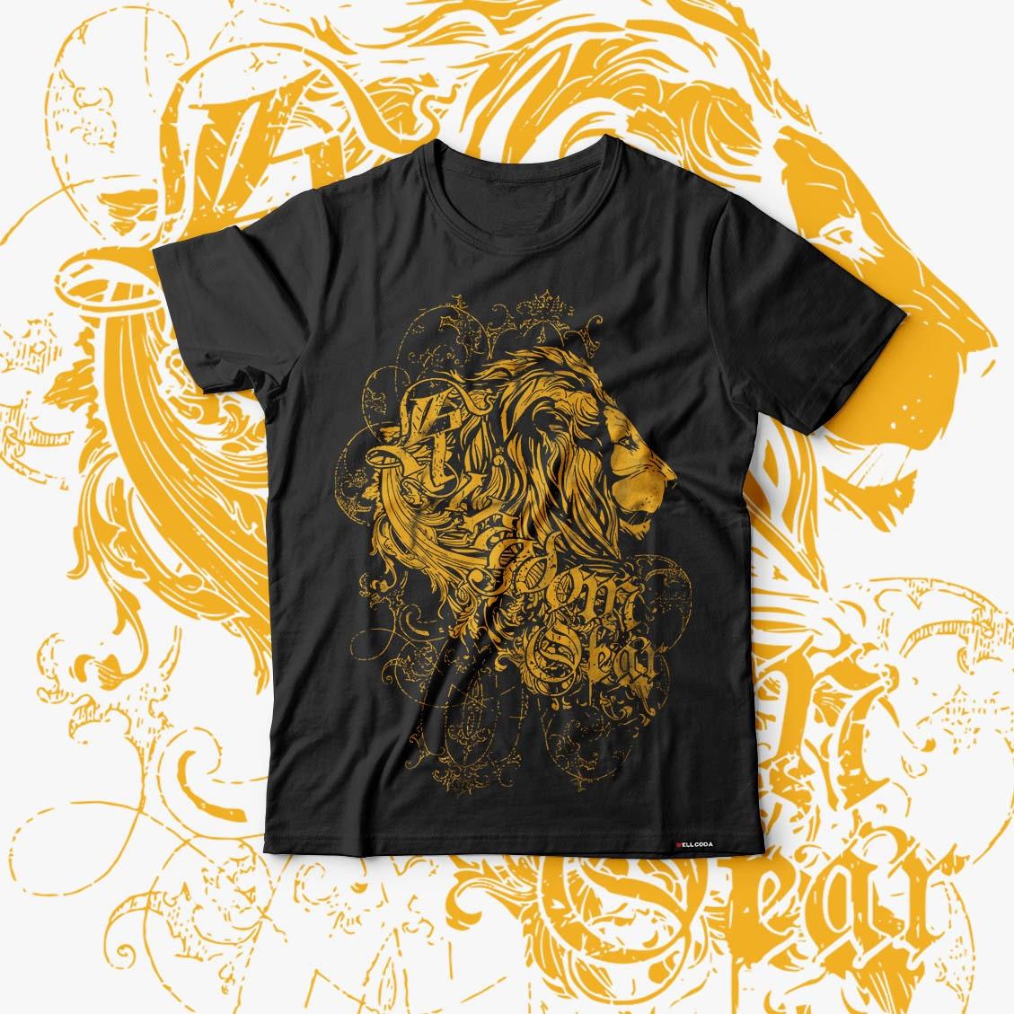 Lion Kingdom Jungle Fear Animal Men Black Tshirt S5XL NEW  Wellcoda