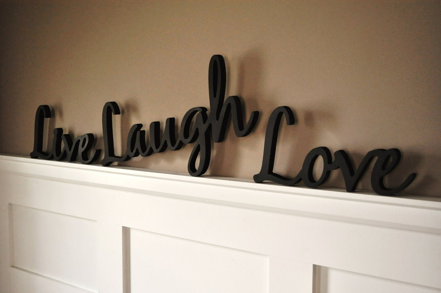 Word Art Wood 3d Cutout Live Laugh Love Set By Mrc