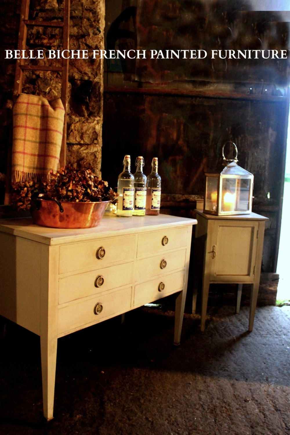 SOLD OUT Gustavian Style Hand Painted Chest of Drawers with Matching Bedside Cabinet