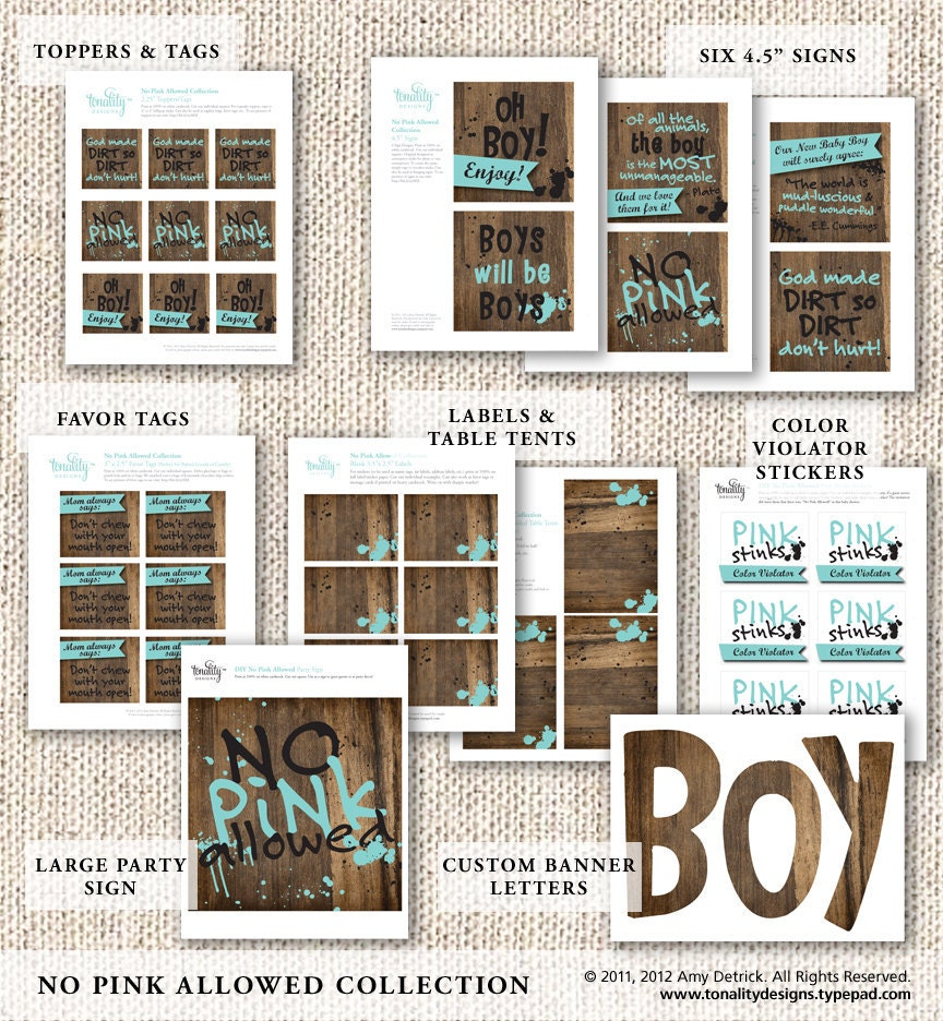 baby boy baby shower no pink allowed party accessories diy