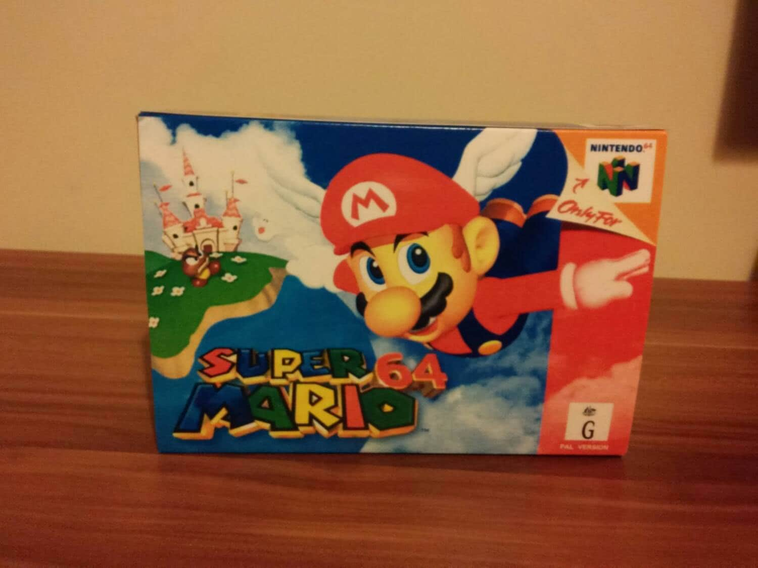 N64 Super Mario 64  Australian Repro Box and Insert NO Game Included