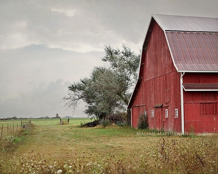 Wall Art Photography red barn photography, old farm, country decor, rustic wall art