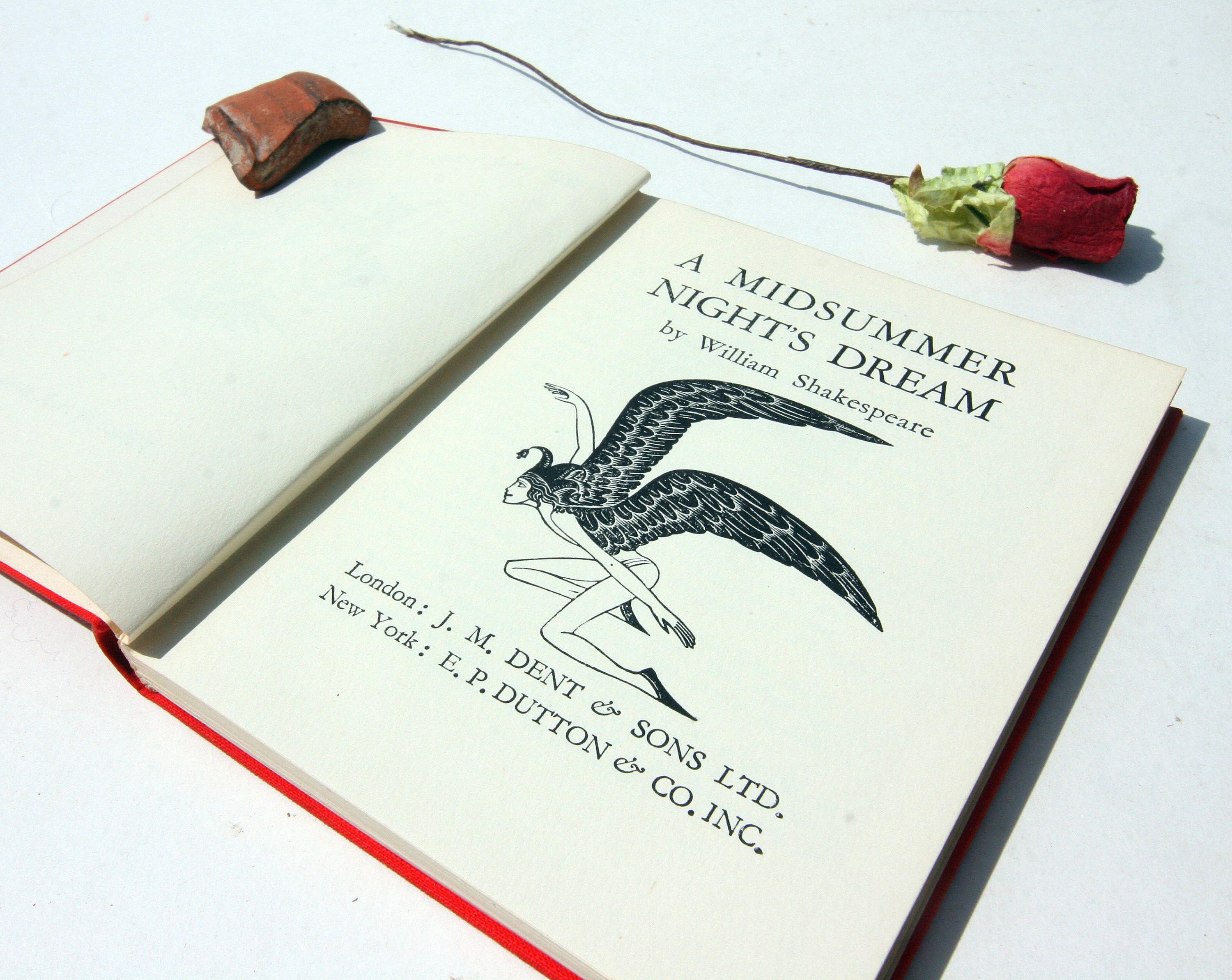 Midsummer Nights Dream William Shakespeare 1934 Vintage old book English Classic books Antique gift