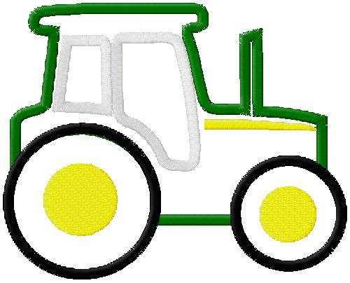 John Deere Machine Embroidery Designs : Items similar to john deere style tractor applique machine