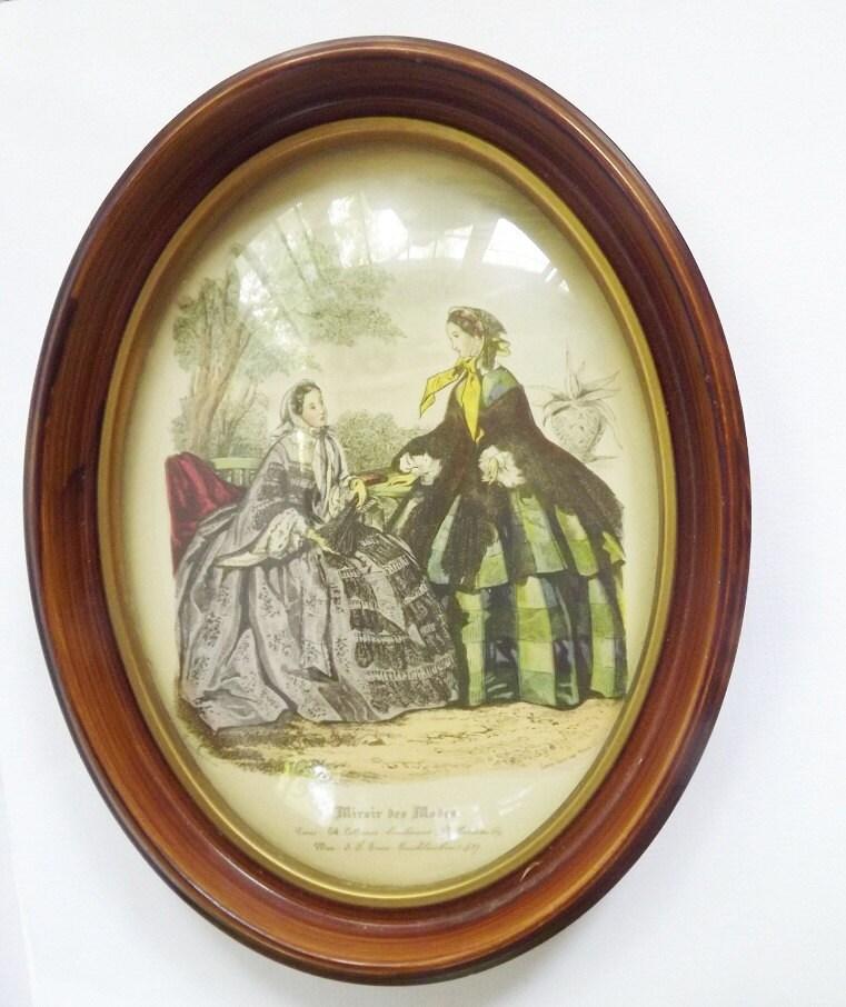 Reserved for gypsey vintage antique art print by vintageandold for Miroir des modes prints