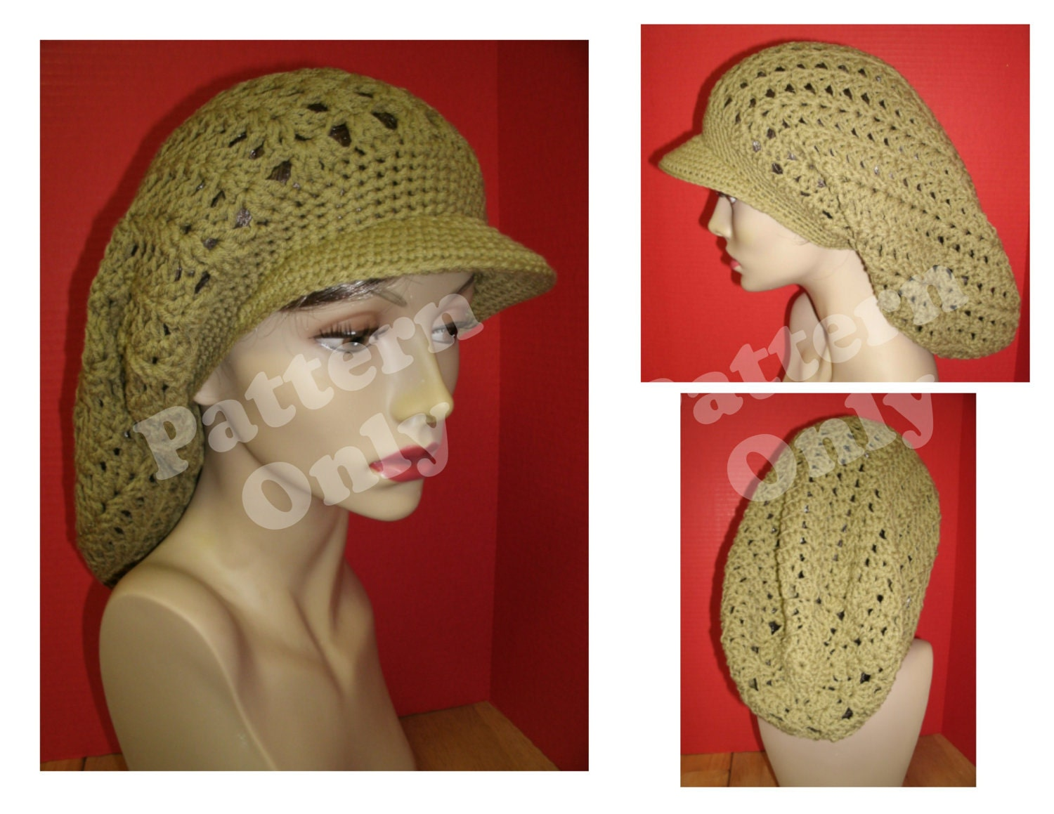 Items similar to Crochet Pattern - Round Brimmed Rasta Hat ...