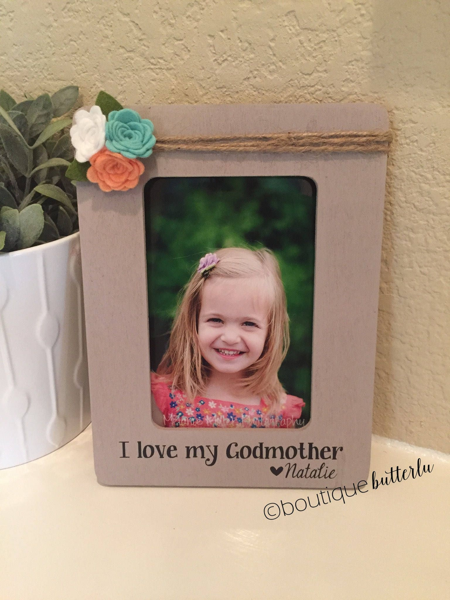Be my Godmother Picture Frame Large 8 x 10 Photo Display