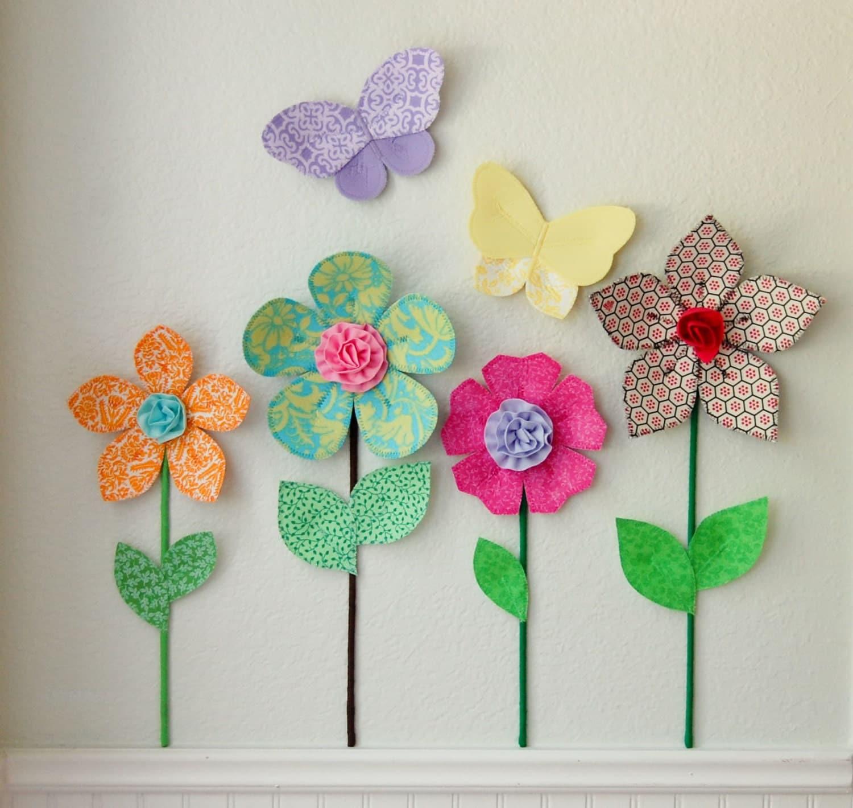 3d Wall Decor Flower Garden : Sale d flower wall decor girls room by