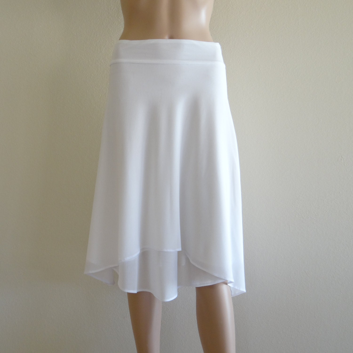 White Evening Skirt 19