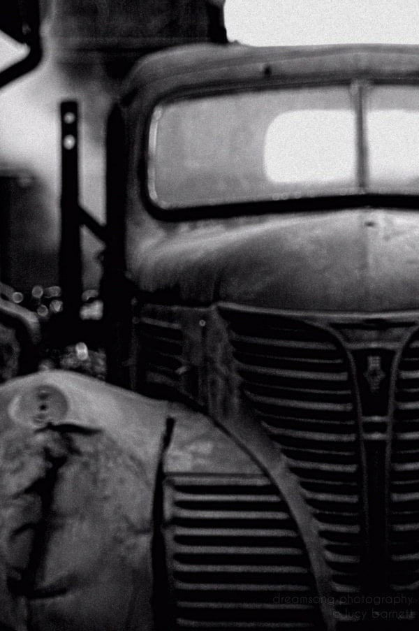 "truck photograph dreamy photography black and white vintage car truck 8X10 ""Fargo"" mechanic project car 1940s 1950s bold modern - DreamSongPhotography"