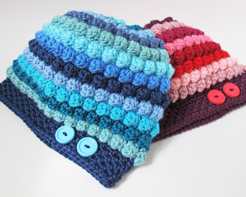 CROCHET PADRÃO - Bobblicious Scarf & Hat - um chapéu um pouco desleixada com lenço combinando (criança, tamanhos Adulto) - Instant PDF Download
