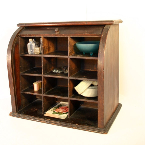 antique roll top desk organizer by conceptfurnishings on etsy