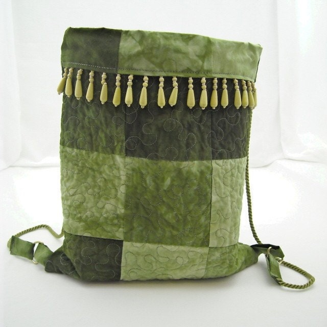 Elaina Organic Bamboo Hand Dyed Quilted Bag - kimbuktu