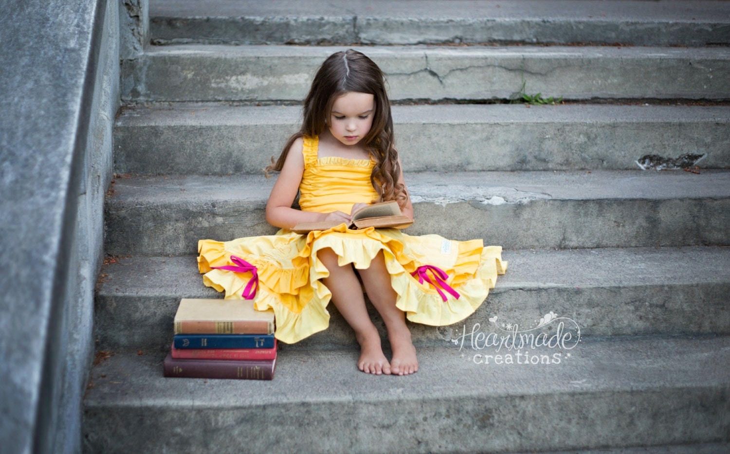 Belle - Everyday Princess Dress - Character Inspired Dress - 6/12mo through 8 - HeartmadeCreations