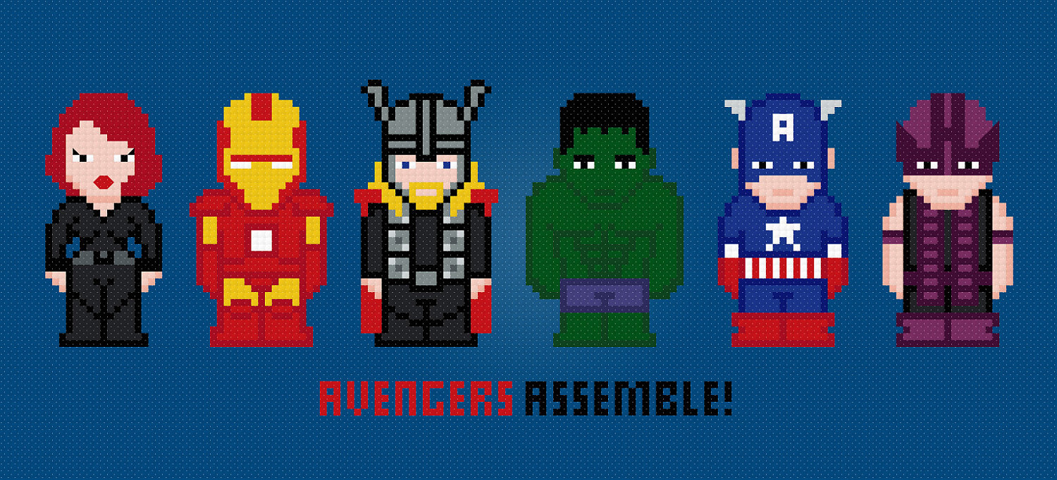 Avengers Cross Stitch PDF Pattern Download