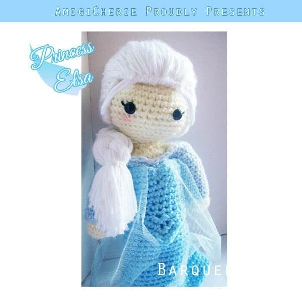 Crochet Elsa Doll : Crochet Doll Frozen Inspired Princess Elsa by AmigiCherie