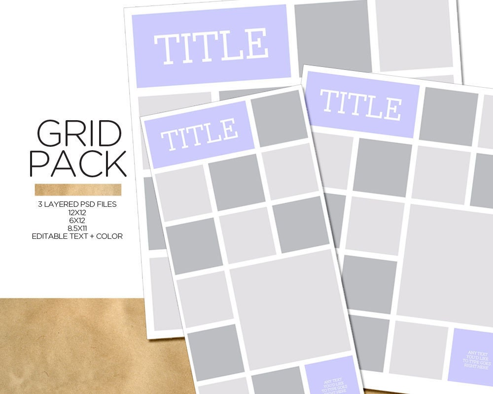 items similar to instagram grid pack layered psd templates on etsy. Black Bedroom Furniture Sets. Home Design Ideas